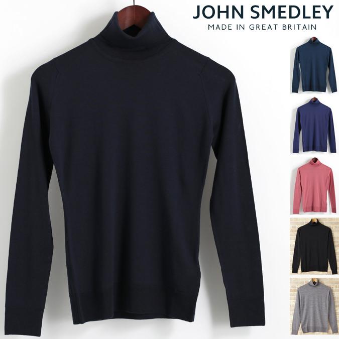 ジョンスメドレー JOHN SMEDLEY カトキン セーター メリノウール タートルネック CATKIN 6色 ジョンスメドレイ スリムフィット 英国製 長袖ニット レディース モッズファッション プレゼント ギフト