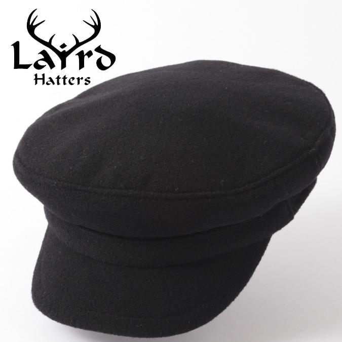 Laird Hatters メンズ マリンキャップ 英国製 ウールキャップ マリナー レアードハッター Mariner 帽子 イギリス製 キャップ ハンドメイド ブラック キルティング レディース 紳士 プレゼント ギフト