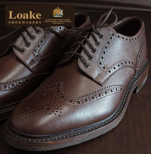 Loake England ローク 革靴 メンズ ブローグ シューズ G 4E BADMINTON ギフト