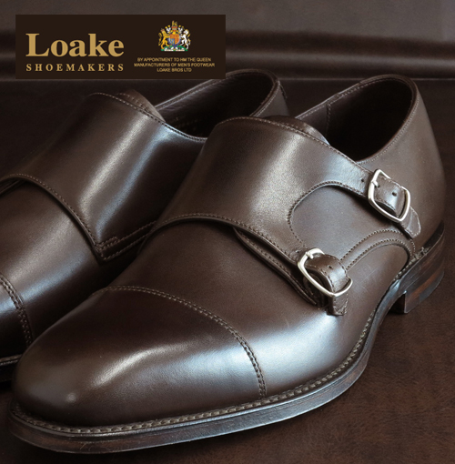 Loake England Rourke England United Kingdom brand men's leather monk shoes CANNON Cannon Monk Shoes double buckle leather leather leather shoes leather shoes dark brown Dark Brown mod United Kingdom United Kingdom Royal loakecannondarkbrown * 26 * 27