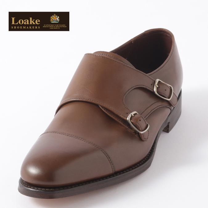 Loake England メンズ バックルモンク シューズ ロークイングランド ダークブラウン F 3E CANNON 革靴 ビジネス ギフト