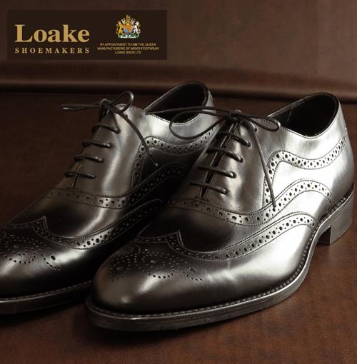 Loake England ローク 革靴 メンズ オックスフォードブローグ シューズ F 3E Heston ギフト