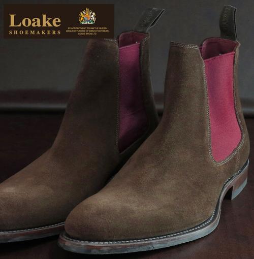 Loake England ローク 革靴 メンズ チェルシーブーツ F 3E Hutchinson ギフト