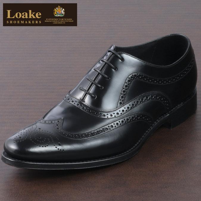 Loake England メンズ メダリオンブローグ シューズ ローク 革靴 F 3E ブラック JONES ジョーンズ ギフト