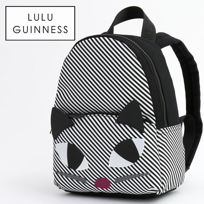 ルルギネス LULU GUINNESS ストライプ クーキー キャット ミニ バックパック 26x19.5cm Stripe Kooky Cat Mini Backpack コンパクト レディース