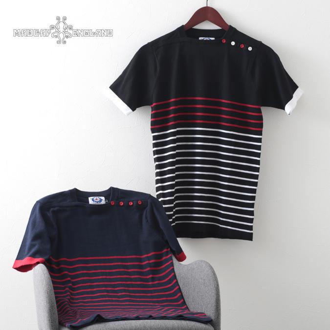 Madcap England ポロシャツ ニット レトロ ポロ ボーダー マッドキャップ メンズ モッズファッション プレゼント ギフト