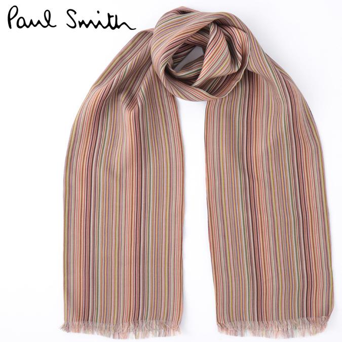 ポールスミス メンズ スカーフ Paul Smith ウール シルク リバーシブル イタリア製 モッズファッション プレゼント ギフト 父の日