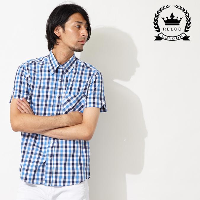 RELCO レルコ チェック 半袖シャツ メンズ プレゼント ギフト モッズシャツ モッズファッション