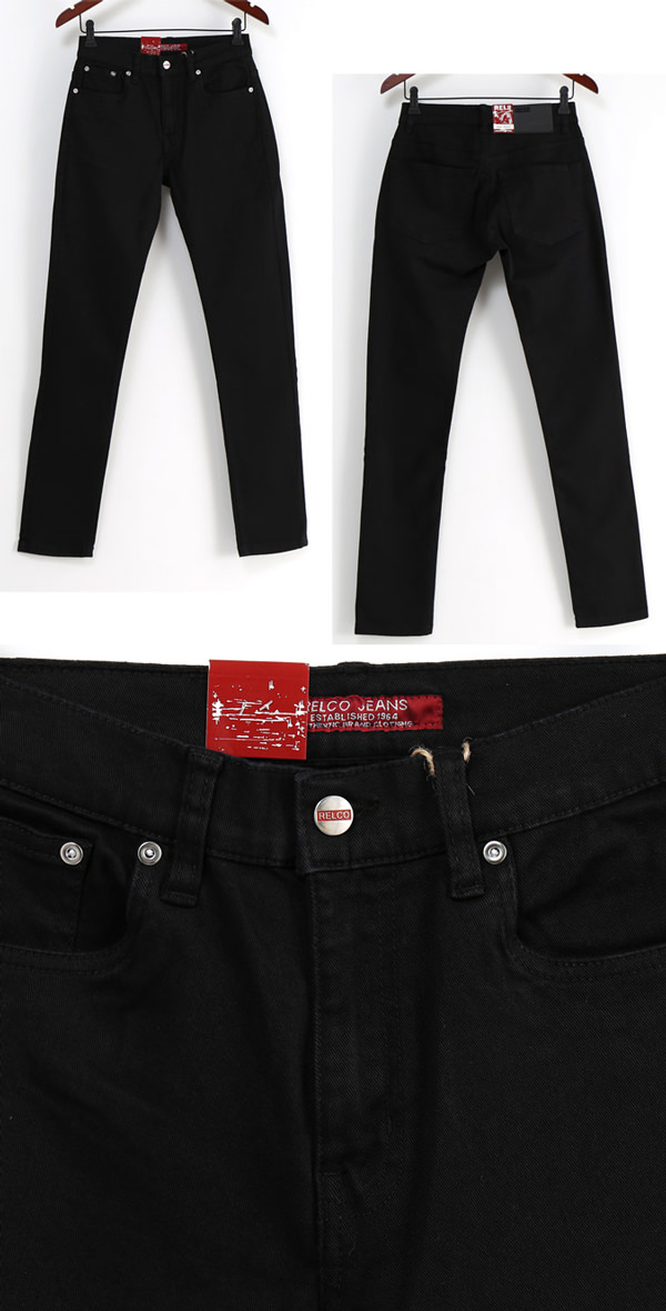 RELCO レルコ denim pants skinny men's mod fashion skirts Denim Pants Stretch slim fit Slim Fit Black Black UK モッズパンツ pants mtrsdenimblack * 28 * 30 * 32 * 34