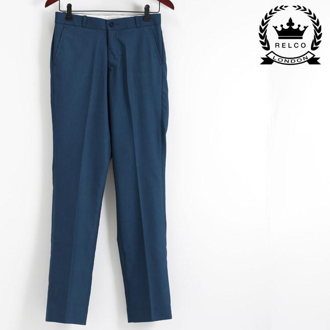 RELCO トラウザー ズボン レルコ トニック ボトムス パンツ スラックス スーツ ブルー メンズ モッズ プレゼント ギフト
