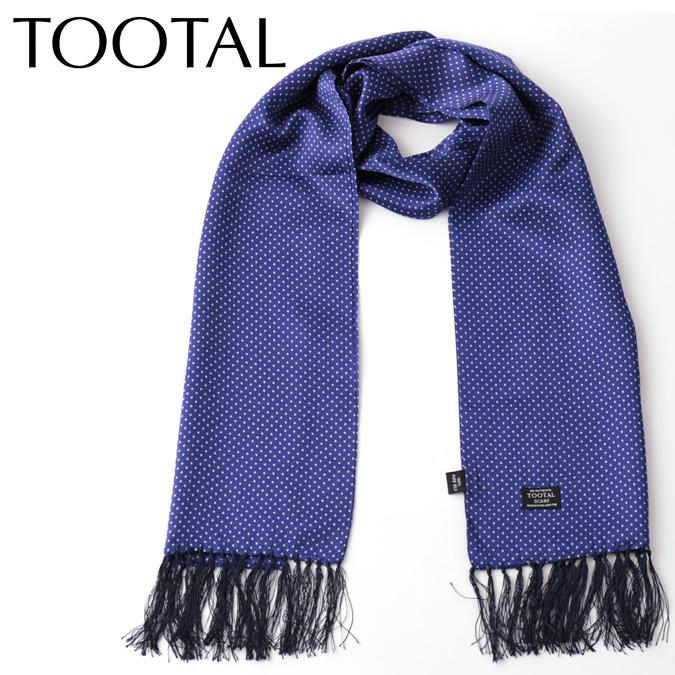 Tootal Vintage メンズ シルクスカーフ 水玉ドット トゥータル ヴィンテージ ロイヤルブルー モッズ ファッション レディース ギフト プレゼント
