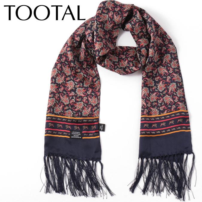 Tootal Vintage メンズ シルクスカーフ ペイズリー トゥータル ヴィンテージ ネイビー オリジナル レディース プレゼント ギフトファッション