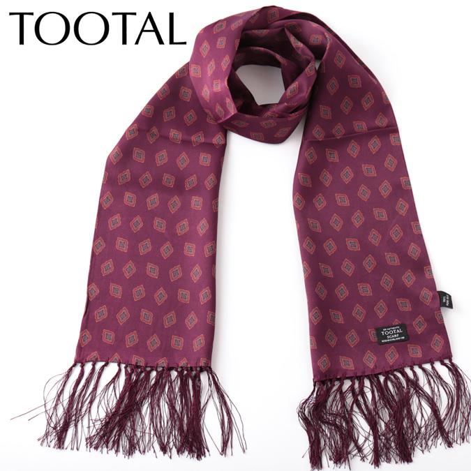 Tootal Vintage メンズ シルクスカーフ アラベスク オリジナル プラム トゥータル ヴィンテージ レディース 花柄 ギフト プレゼント