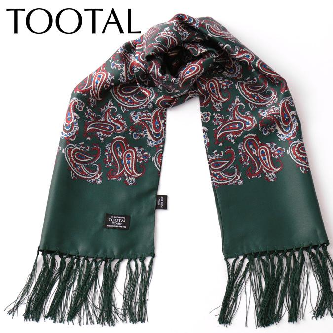 Tootal Vintage メンズ シルクスカーフ ペイズリー トゥータル ヴィンテージ フォレスト オリジナル レディース プレゼント ギフト