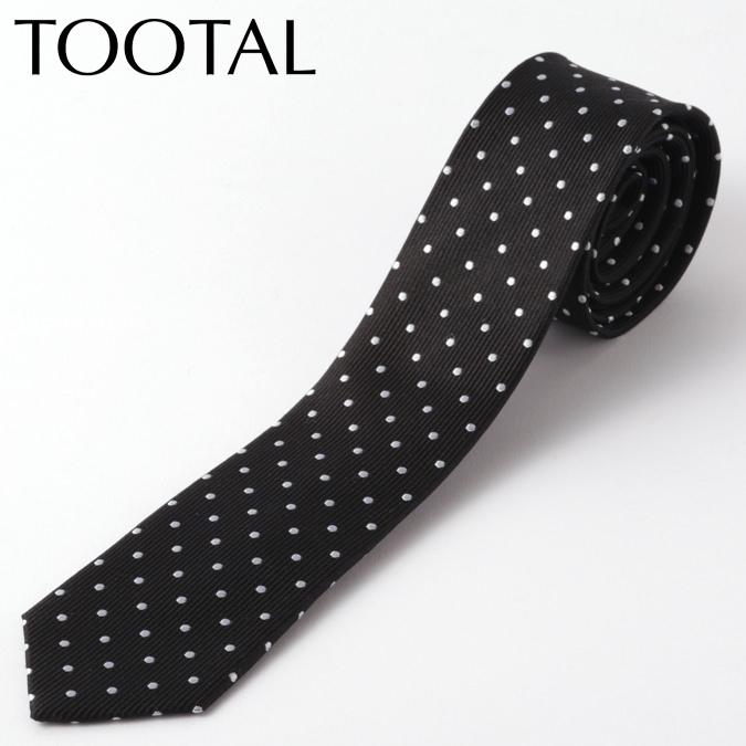 Tootal Vintage メンズ シルク ネクタイ トゥータル ヴィンテージ オリジナル ポルカドット ブラック タイ ナロータイ プレゼント ギフト 就職祝い 卒業式