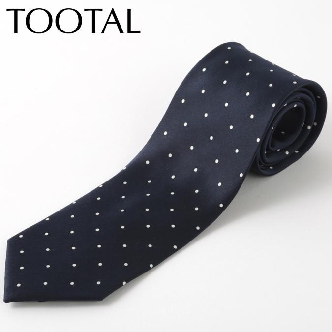 Tootal Vintage メンズ シルク ネクタイ トゥータル ヴィンテージ オリジナル ポルカドット ネイビー タイ プレゼント ギフト 就職祝い 卒業式