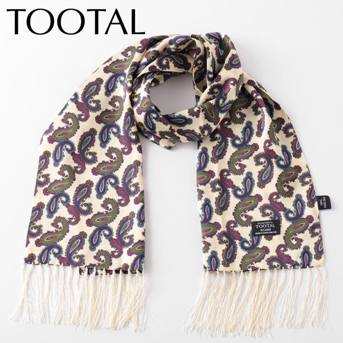 Tootal Vintage メンズ シルクスカーフ ペイズリープリント トゥータル ヴィンテージ オリジナル 130×25cm プラム レディース プレゼント ギフト
