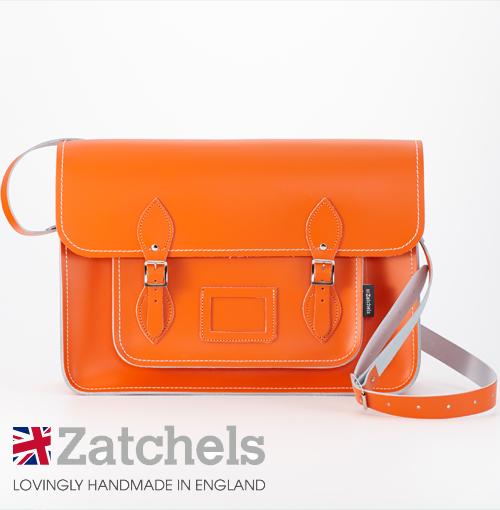 訳あり Zatchels サッチェルバッグ 新作アイテム毎日更新 16インチ 在庫処分 40x29x10cm 英国製 マグネットストラップ メンズ アウトレット オレンジ バッグ かばん レディース