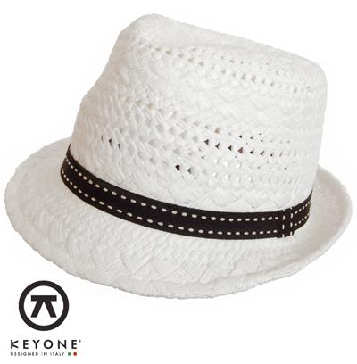 KEYONE キーヨン 麦わら 帽子 ストローハット 【送料無料】 ストロー ハット 麦わら帽子 Mikonos Bianco Straw Hat ブラックリボン ホワイト White UK モッズファッション keymikbianco プレゼント ギフト