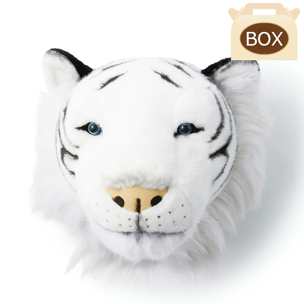 WILD&SOFT(ワイルドアンドソフト) アニマルヘッド ホワイトタイガー 専用ボックス入り BIBIB&Co(ビビブアンドコー) Animal Head