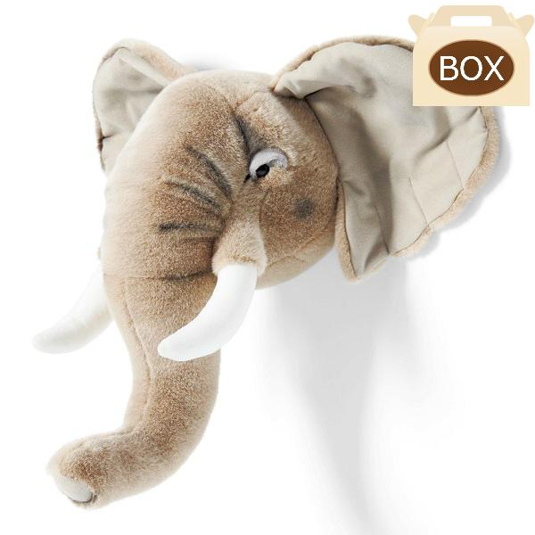 WILD&SOFT(ワイルドアンドソフト) アニマルヘッド ゾウ BB33 専用ボックス入り BIBIB&Co(ビビブアンドコー) Animal Head