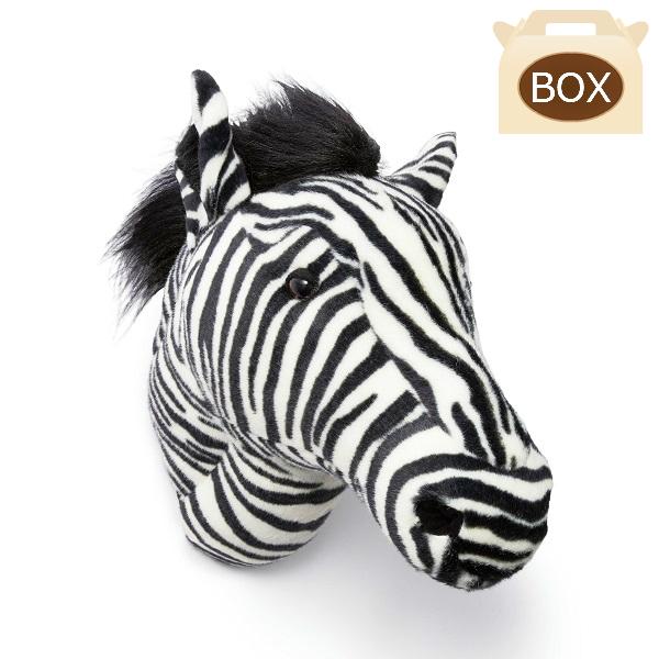 WILD&SOFT(ワイルドアンドソフト) アニマルヘッド シマウマ BB37 専用ボックス入り BIBIB&Co(ビビブアンドコー) Animal Head