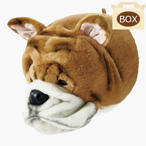 WILD&SOFT(ワイルドアンドソフト) アニマルヘッド ブルドック BB51 専用ボックス入り BIBIB&Co(ビビブアンドコー) Animal Head