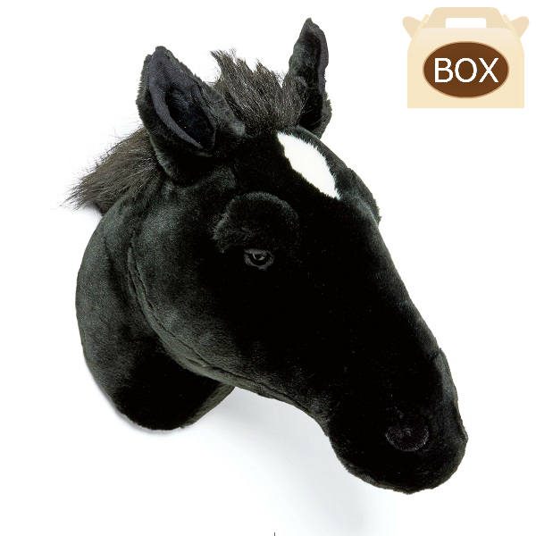 WILD&SOFT(ワイルドアンドソフト) アニマルヘッド ホース ブラック BB59 専用ボックス入り BIBIB&Co(ビビブアンドコー) Animal Head