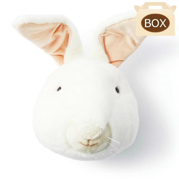 WILD&SOFT(ワイルドアンドソフト) アニマルヘッド ウサギ WS0012 専用ボックス入り BIBIB&Co(ビビブアンドコー) Animal Head
