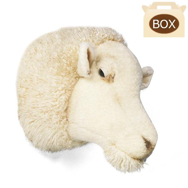WILD&SOFT(ワイルドアンドソフト) アニマルヘッド ヒツジ WS0040 専用ボックス入り BIBIB&Co(ビビブアンドコー) Animal Head