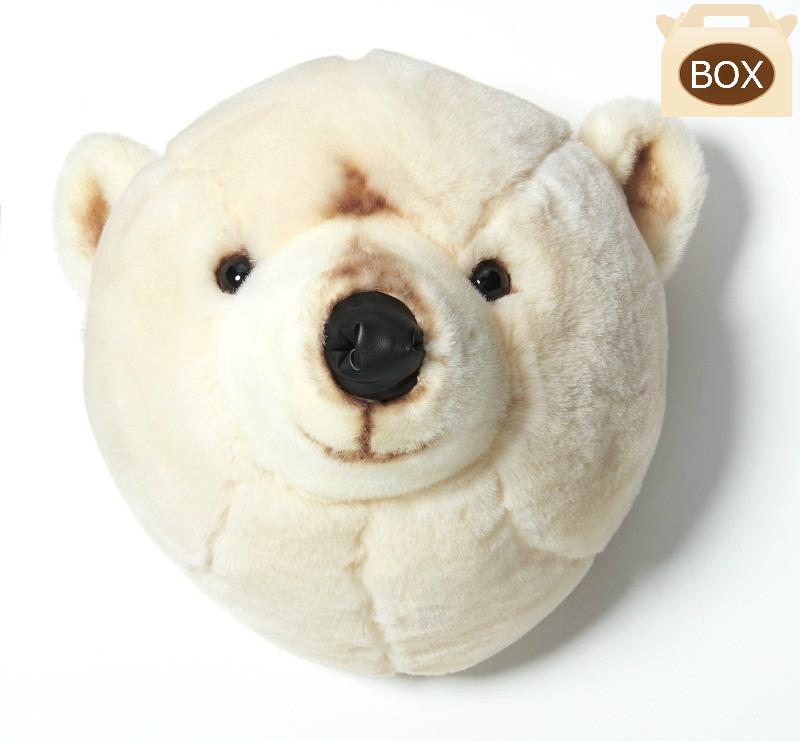 WILD&SOFT(ワイルドアンドソフト) アニマルヘッド シロクマ BB23 専用ボックス入り BIBIB&Co(ビビブアンドコー) Animal Head