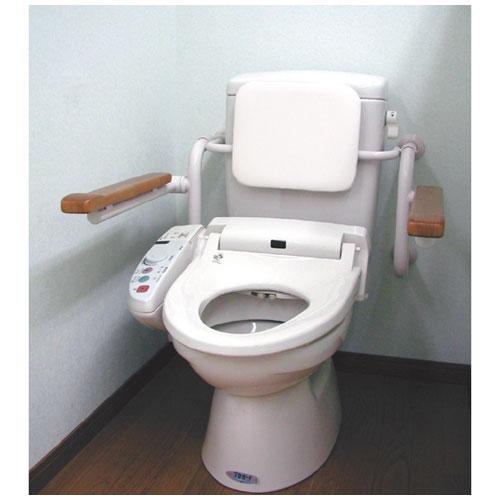 トイレ用背もたれ付手すり壁付タイプ 【店頭受取対応商品】