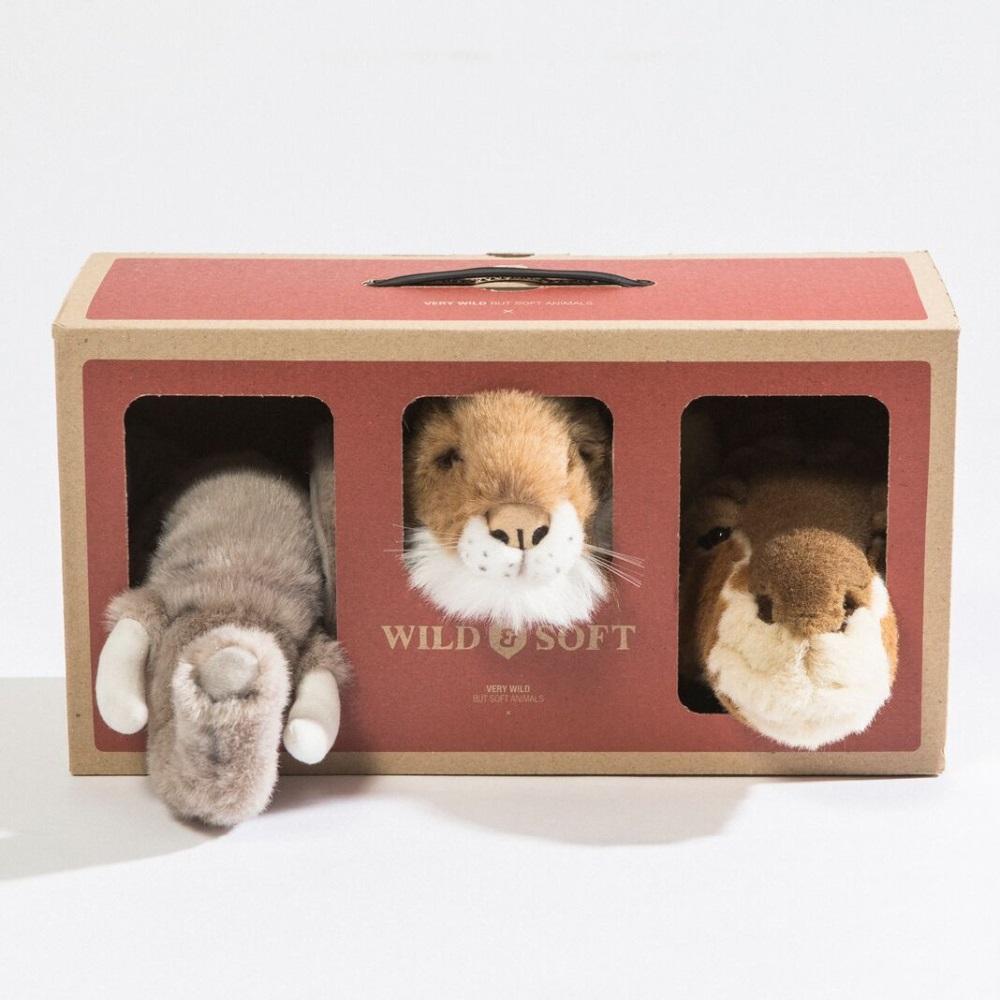WILD&SOFT(ワイルドアンドソフト) スモールアニマルヘッド サファリボックス ギブトボックスセット エレファント ジラフ ライオン WS5100 BIBIB&Co(ビビブアンドコー) Animal Head