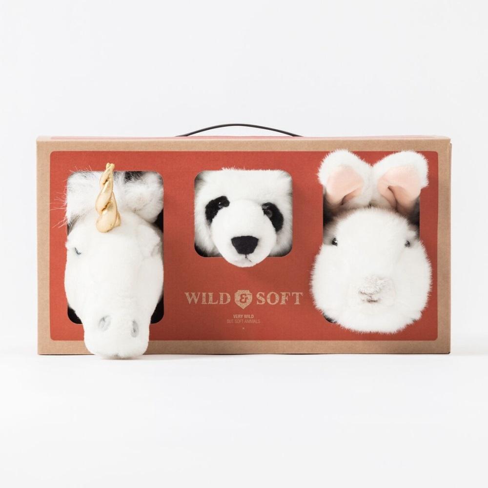 WILD&SOFT(ワイルドアンドソフト) スモールアニマルヘッド ラブリーボックス ギフトボックスセット ラビット パンダ ユニコーン WS5101 BIBIB&Co(ビビブアンドコー) Animal Head