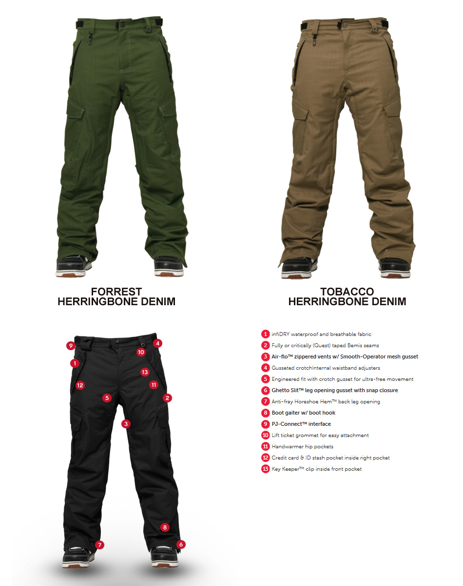 14 15 686 AUTHENTIC INFINITY SLIM CARGO PANT Snowboard Clothing And