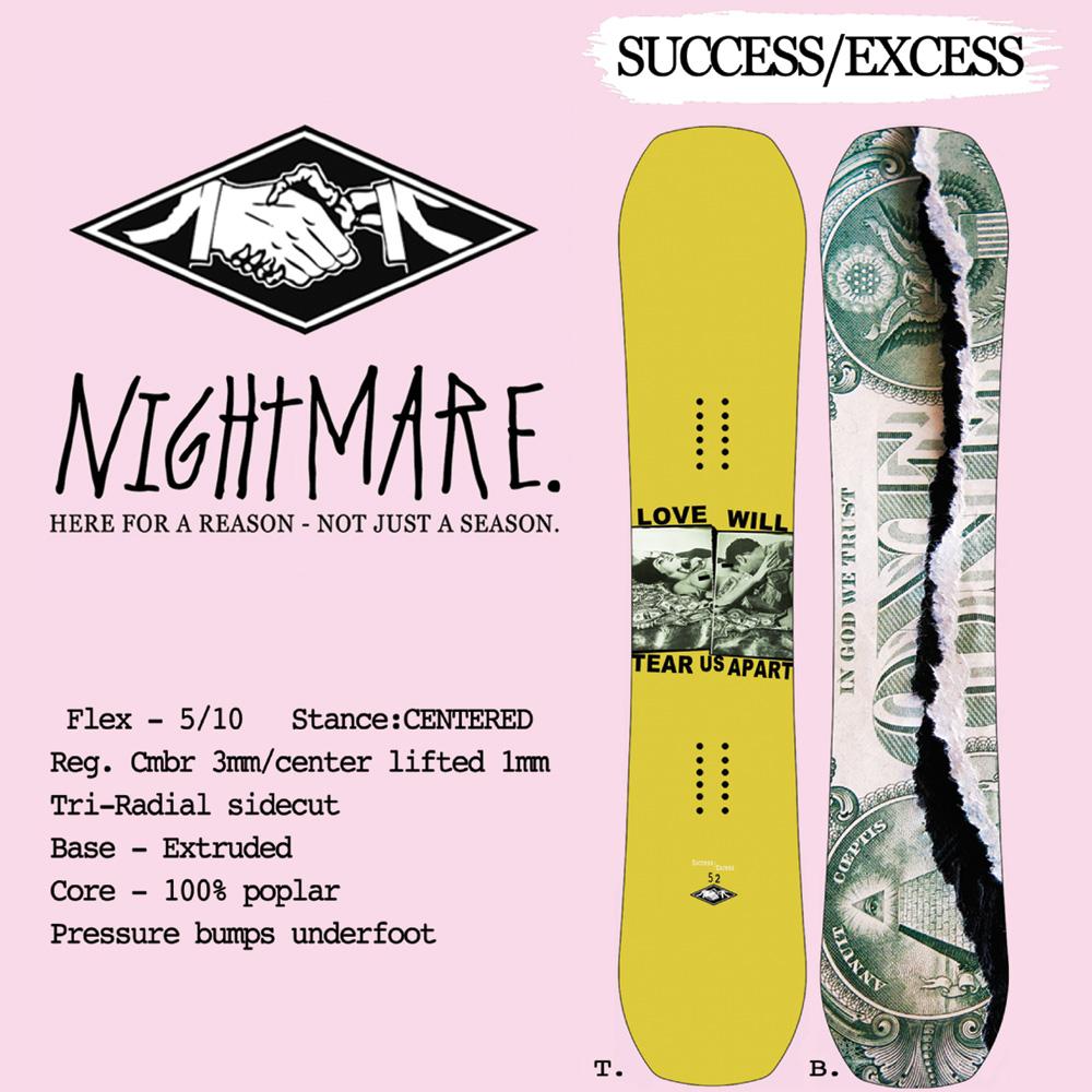 【17-18 NIGHTMARE SUCCESS/EXCESS】NIGHTMARE スノーボード/ナイトメア スノーボード/NIGHTMARE/【サクセス/エクセス】/149/152