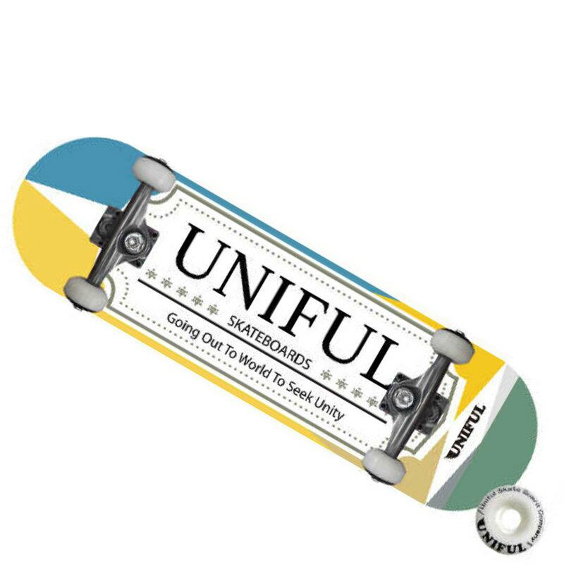 UNIFUL LOGO COMPLETE/スケボー/スケートボード/スケボー コンプリート/スケートボード コンプリート/コンプリート スケートボード/コンプリートデッキ/SK8