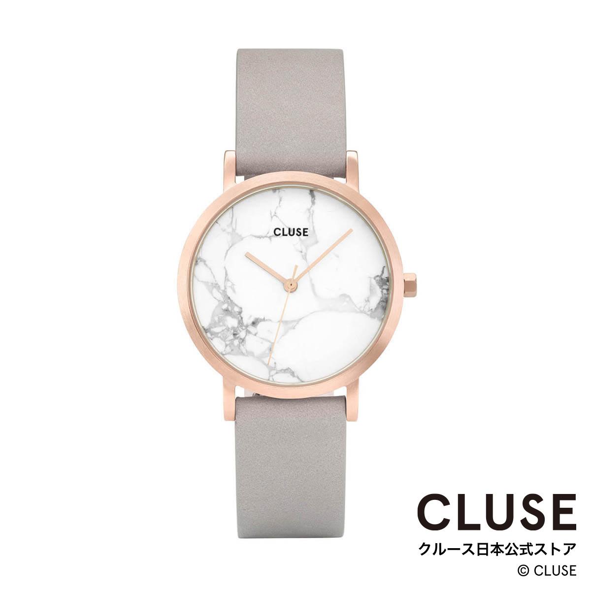 お求めやすく価格改定 クルース 至高 CLUSE 日本総代理店 公式ストア 正規品 日本正規品 時計 ラ ペティット レディース 腕時計ポイント10倍 ロッシュ ホワイト マーブル ローズゴールド グレー