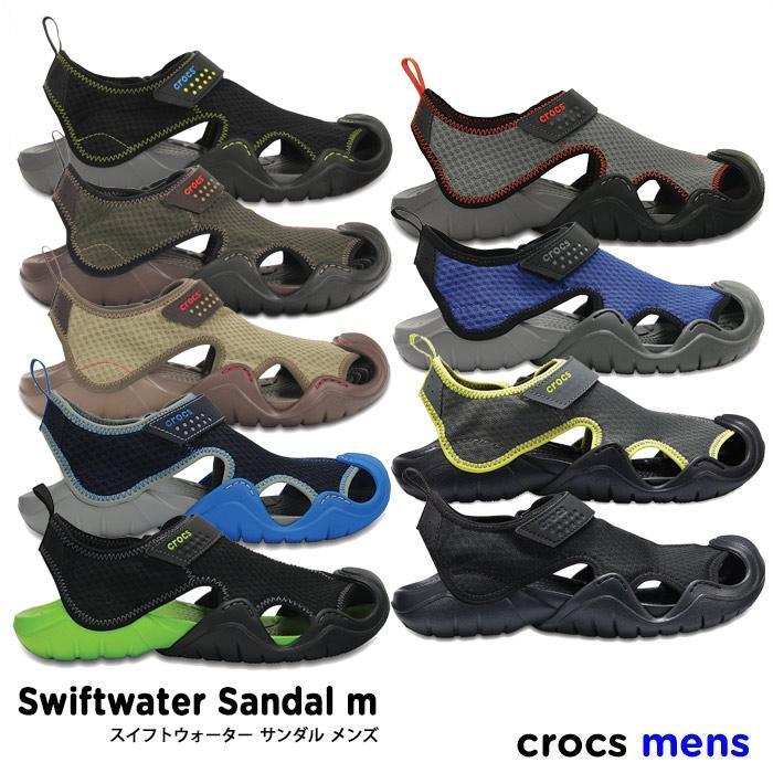 crocs【クロックス メンズ】Swiftwater Sandal Mens / スイフトウォーター サンダル メンズ ※※ アウトドア キャンプ フェス 釣り 街歩き サンダル ビーサン ビーチサンダル ペア