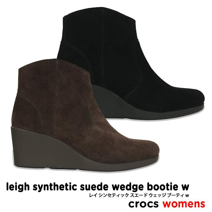 crocs【クロックス】Leigh Synthetic Suede Wedge Bootie / レイ シンセティック スエード ウェッジ ブーティ ※※ レディース ウィメンズ ブーツ