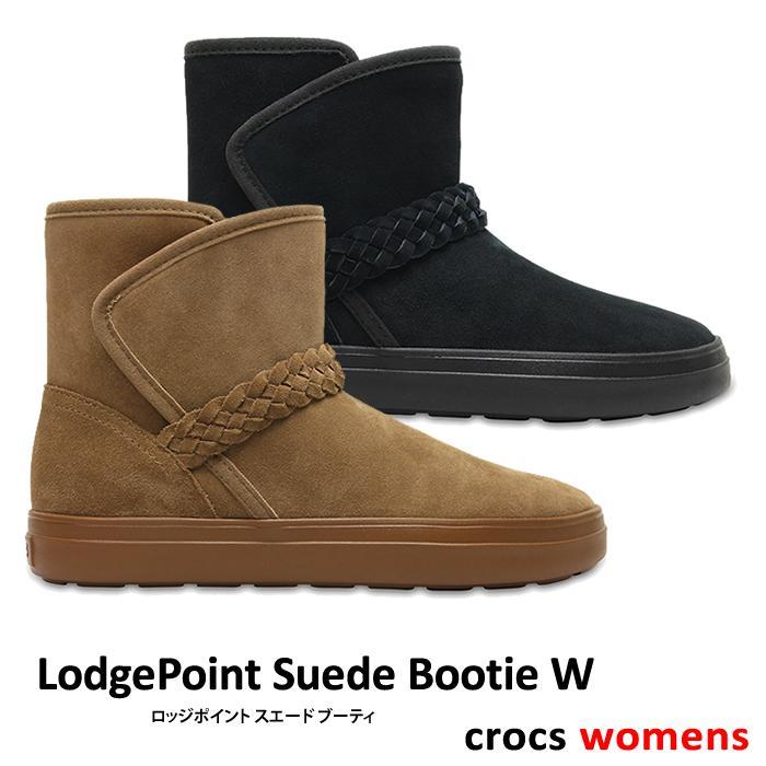 crocs【クロックス】LodgePoint Suede Bootie W / ロッジポイント スエード ブーティ ※※ ウィメンズ レディース ブーツ サイドゴア