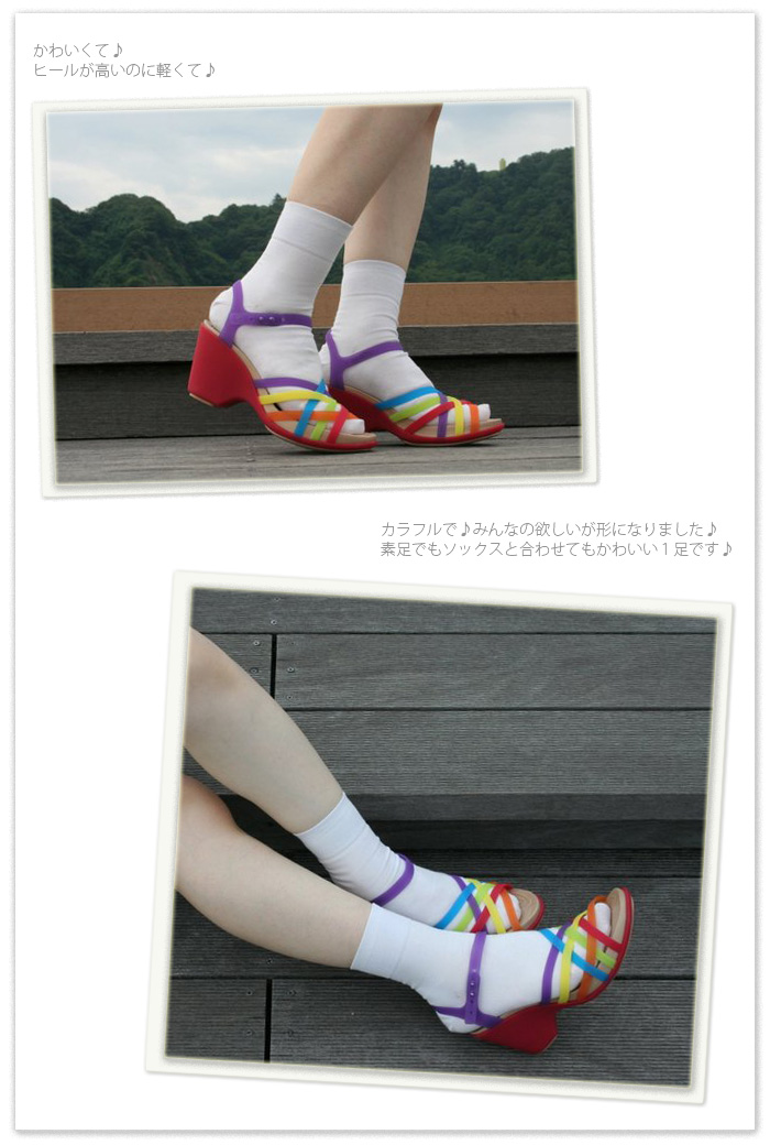 crocs Huarache Sandal Wedge/ straw Che sandals wedge※※