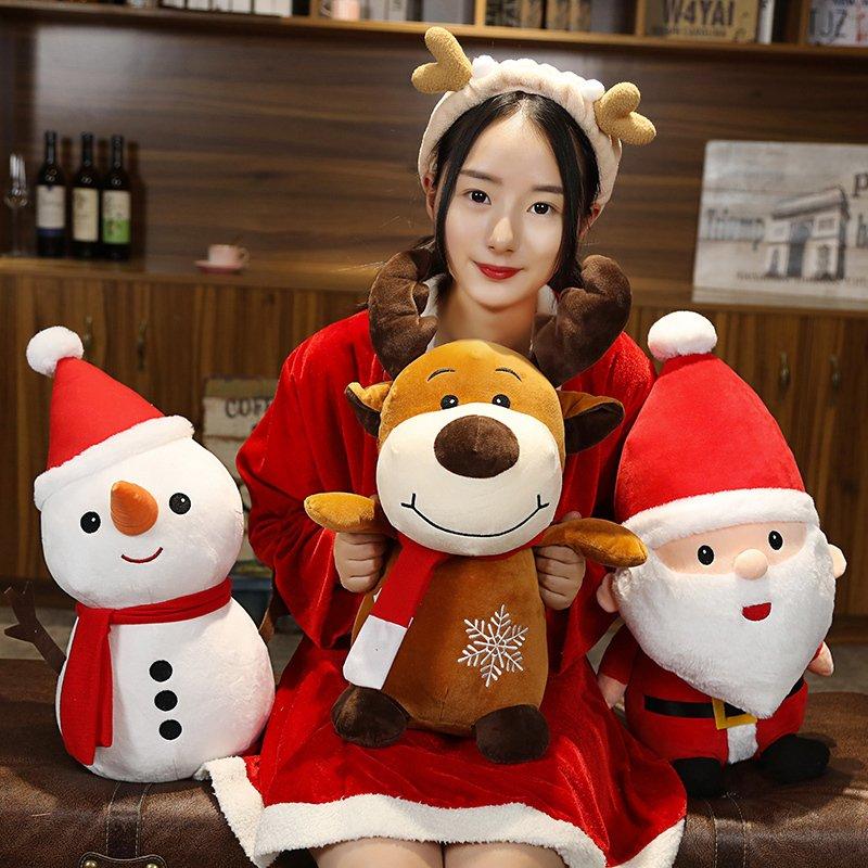 クリスマス XMAS CHRISTMAS 送料無料 ぬいぐるみ サンタクロース トナカイ スノーマン 雪だるまマスコット人形 TOY Xmas 安全 割引も実施中 40cm 贈り物 プレゼント 3タイプ選べる ギフト クリスマスプレゼント 雑貨