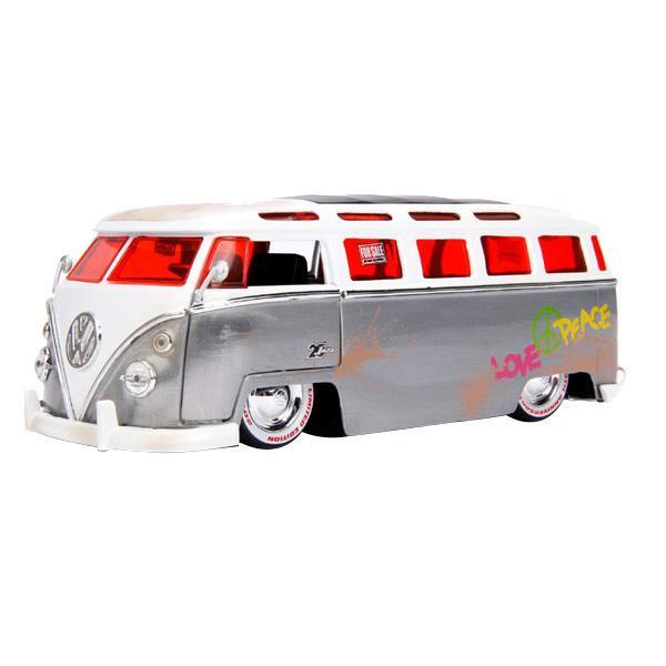 【代引不可】正規輸入品 Jada TOYS ミニカー 1:24 20TH 1962 VW BUS 19974「他の商品と同梱不可/北海道、沖縄、離島別途送料」