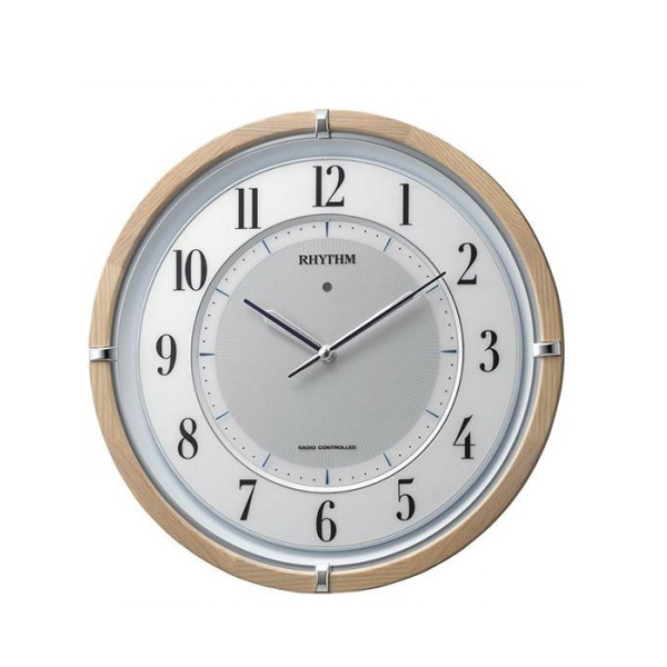リズム時計 サイレントソーラー M848 06薄茶半艶仕上(白) 4MY848SR06「他の商品と同梱不可」