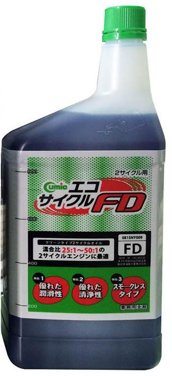 新日本樹脂工業 2サイクル混合用 2サイクルオイル キューミック エコサイクルFD 1L 青 20本 【NFR店】