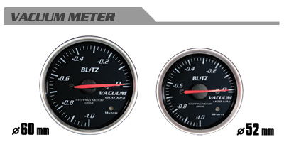 BLITZ ブリッツ レーシングメーターSD 60φ WHITE バキュームメーター 品番:19562 【NFR店】