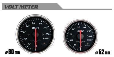 BLITZ ブリッツ レーシングメーターSD 60φ WHITE ボルトメーター 品番:19567 【NFR店】