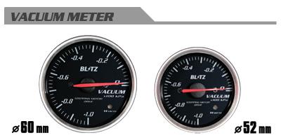 BLITZ ブリッツ レーシングメーターSD 52φ WHITE バキュームメーター 品番:19572 【NFR店】