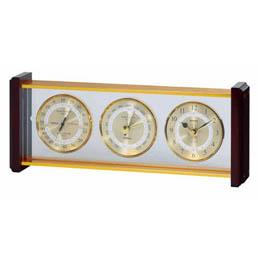 ☆EMPEX スーパーEX 気象計/時計 EX-743 ゴールド